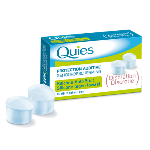 Quies Silicone anti-bruit discretion 20dB 3 paires
